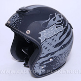 Casque Jet 381 mat road 66